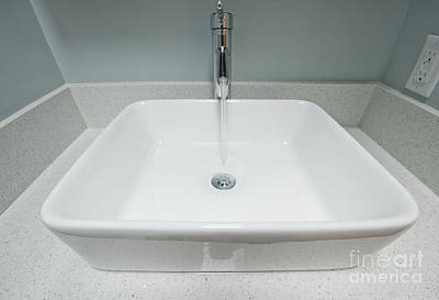 Contemporary Sink Basin Poster by Marlene Ford