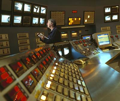 Control Room In A Float Glass Factory Poster