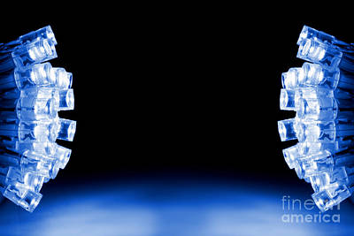 Cool Blue Led Lights Both Sides Poster by Simon Bratt Photography LRPS