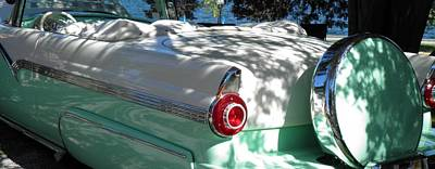 Cool In The Shade 56 Ford Fairlane Convertible Poster