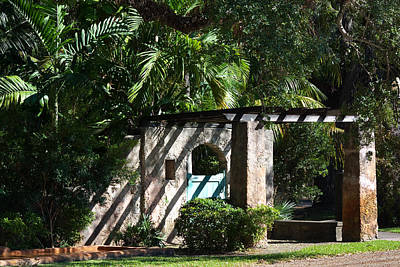 Poster featuring the photograph Coral Gables Gate by Ed Gleichman