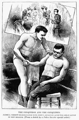 Corbett & Sullivan, 1892 Poster by Granger