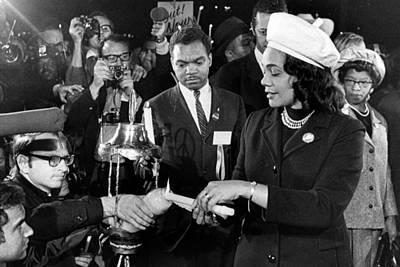 Coretta Scott King Lights Candle Poster