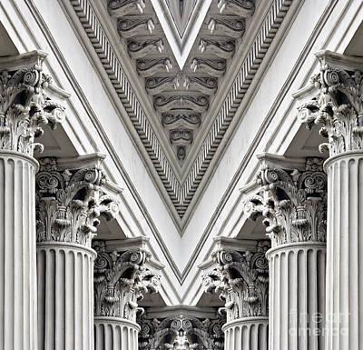 Corinthian Columns - D005242 Poster by Daniel Dempster