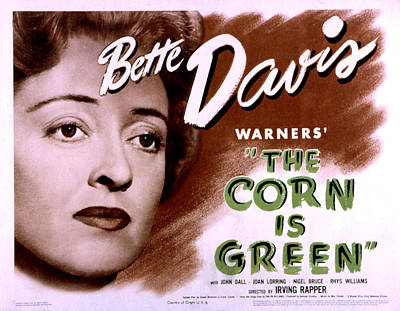 Corn Is Green, The, Bette Davis, 1945 Poster by Everett