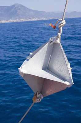 Corner-cube Radar Reflector On A Boat. Poster
