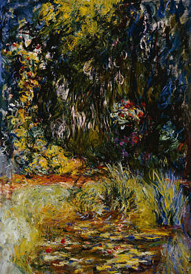 Corner Of A Pond With Waterlilies Poster by Claude Monet