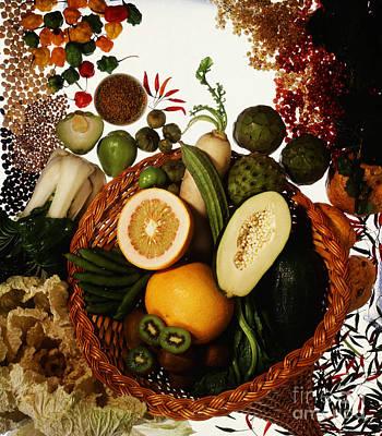 Cornucopia Of Exotic Fruit Poster