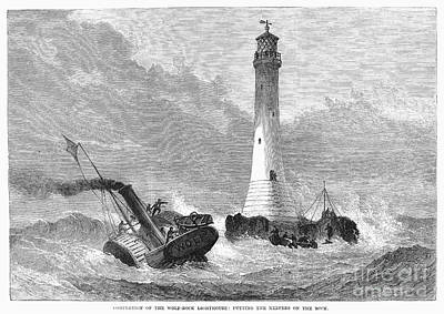 Cornwall: Lighthouse, 1870 Poster by Granger