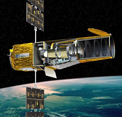 Corot Satellite, Artwork Poster by David Ducros