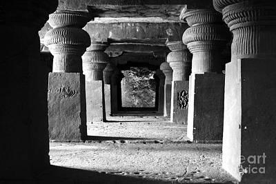 Corridor At Elora Caves India Poster by Sumit Mehndiratta