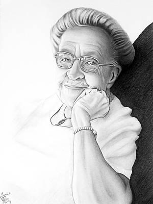 Poster featuring the drawing Corrie Ten Boom by Danielle R T Haney