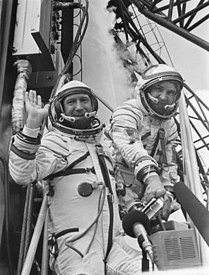 Cosmonauts Aleksey Leonov Left Poster by Everett