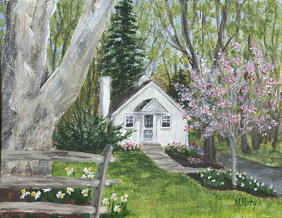 Cottage In Spring Poster