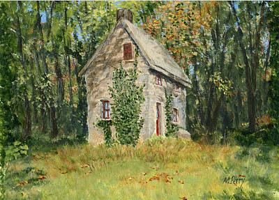 Cottage In The Woods At Fonthill Poster