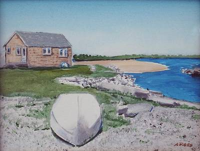 Poster featuring the painting Cottage On The Marsh by Anthony Ross
