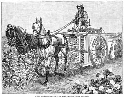 Cotton Harvester, 1886 Poster
