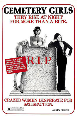 Count Draculas Great Love, Aka Cemetery Poster by Everett