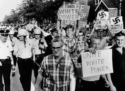 Counter Demonstrators For White Power Poster by Everett