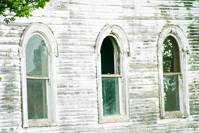 Country Church Windows Poster
