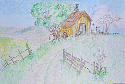 Country Woodshed Poster