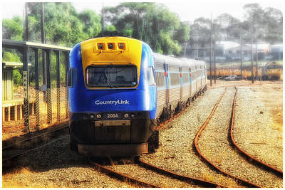 Poster featuring the digital art Countrylink Taree 01 by Kevin Chippindall