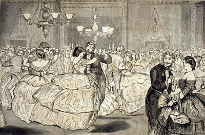Couples Dancing In Ballroom In Formal Poster by Everett