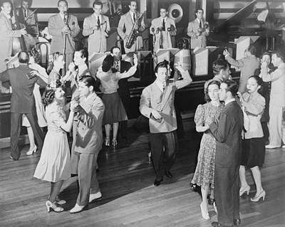 Couples Dancing To The Orchestra Poster