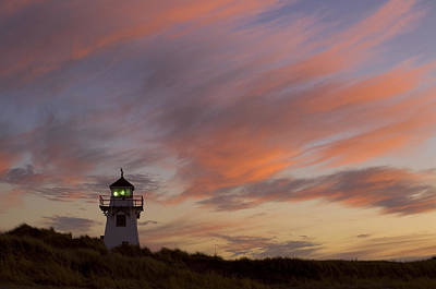 Covehead Lighthouse At Sunset, Prince Poster by John Sylvester