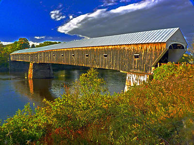 Poster featuring the photograph Covered Bridge by William Fields