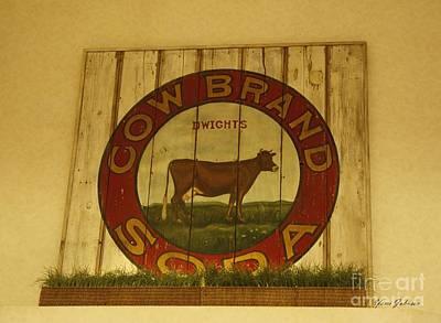 Cow Brand Soda Signe Poster by Yumi Johnson