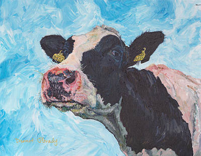 Cow No 03. 0556 Irish Friesian Cow Poster