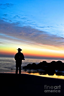 Cowboy Sunrise Poster