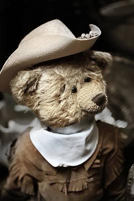 Cowboy Teddy 1 Poster by Marilyn Hunt