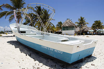 Poster featuring the photograph Cozumel Mexico Fishing Boat by Shawn O'Brien