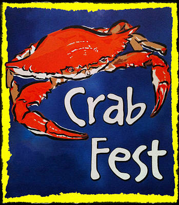 Crab Fest Poster by Bill Cannon
