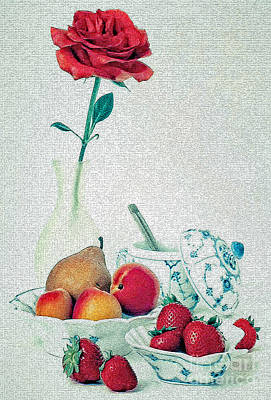 Poster featuring the photograph Crackled Rose by Elf Evans