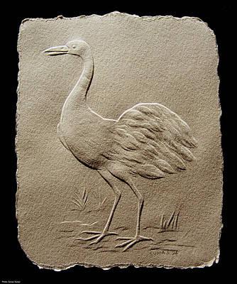 Crane Bird Poster