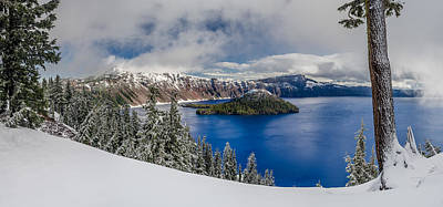 Crater Lake Panorama 1 Poster by Greg Nyquist