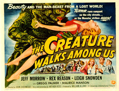 Creature Walks Among Us, The, Leigh Poster by Everett