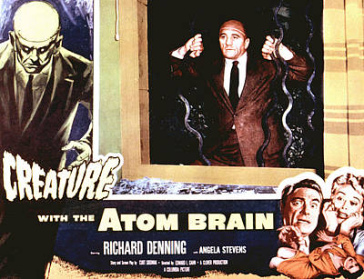 Creature With The Atom Brain, The Poster by Everett