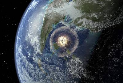 Cretaceous-tertiary Impact, Artwork Poster by Joe Tucciarone