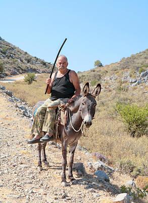 Cretan Villager Poster by Paul Cowan
