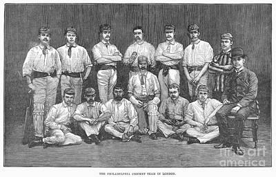 Cricket Team, 1884 Poster