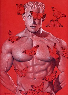 Crimson Flight Poster by Chance Manart
