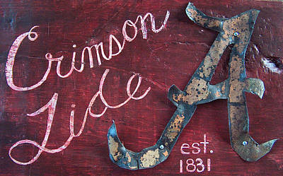 Crimson Tide Poster by Racquel Morgan