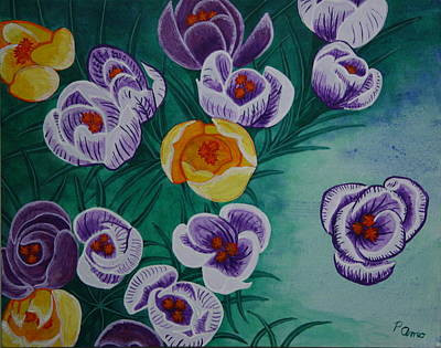 Poster featuring the painting Crocus by Paul Amaranto