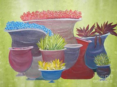 Crooked Pots Poster by Rachel Carmichael