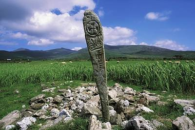 Cross Slab, Dingle Peninsula, Co Kerry Poster by The Irish Image Collection