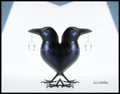 Crow With Crystal 6 Poster by Roland LaVallee